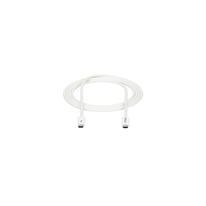Cable 2m Thunderbolt 3 Blanco Comp DP